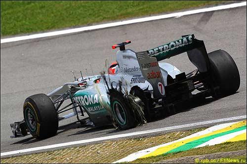 В Бразилии Михаэлю Шумахеру не повезло...