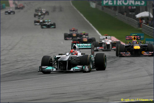 Михаэль Шумахер на Гран При Малайзии 2011 года