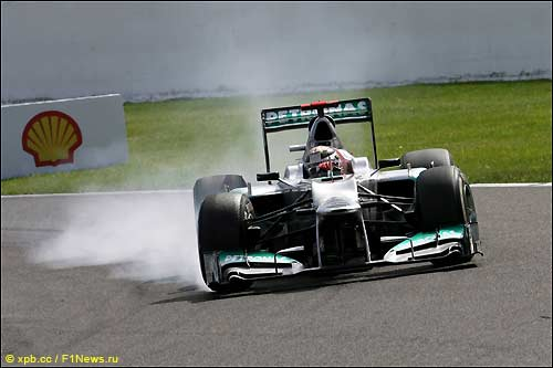 Михаэль Шумахер на трассе Гран При Бельгии