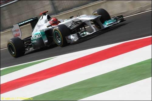 Михаэль Шумахер на прошлогоднем Гран При Италии