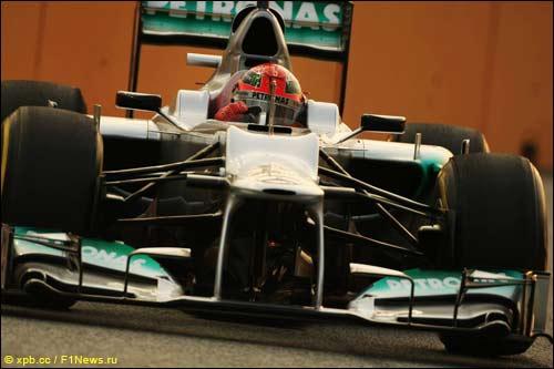 Михаэль Шумахер на Гран При Сингапура