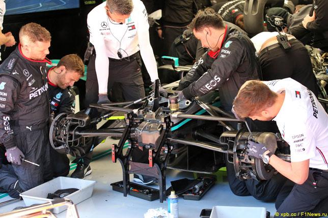 Передняя подвеска Mercedes