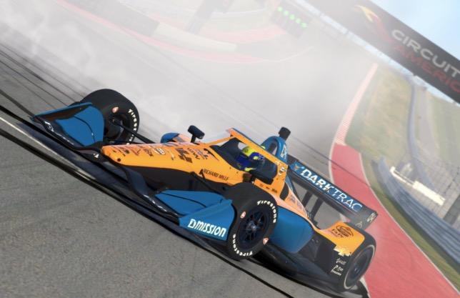 Ландо Норрис - победитель виртуальной гонки IndyCar в Остине