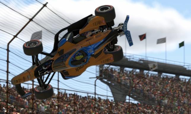 Виртуальная машина Ландо Норриса после столкновения взлетела в воздух