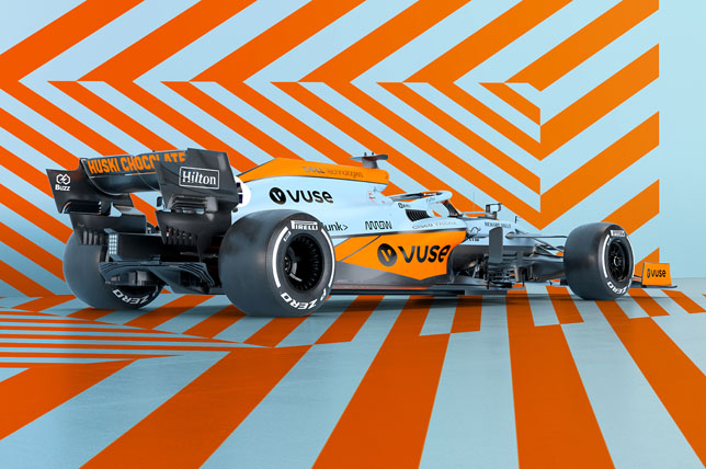 Раскраска McLaren на Гран При Монако