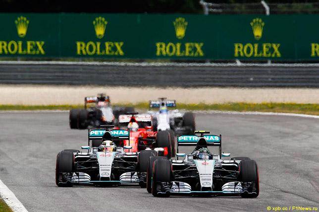 Пилоты Mercedes в Австрии
