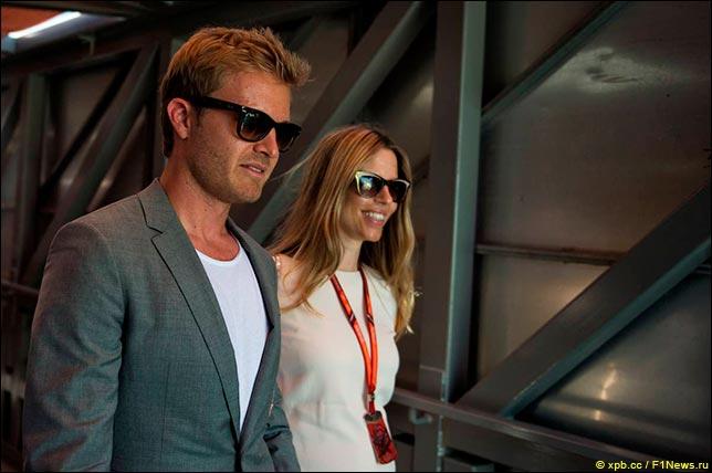 Нико Росберг с женой Вивиан