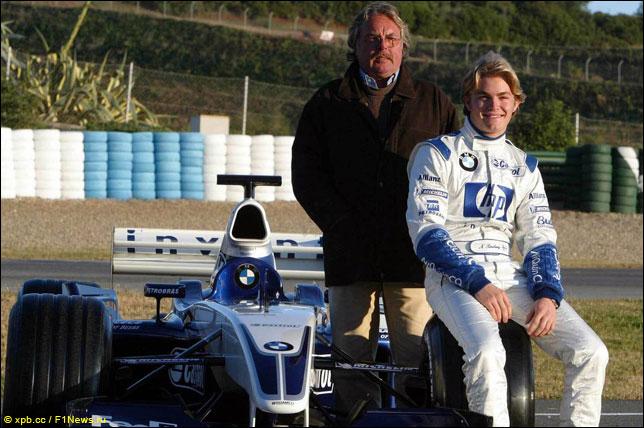Кеке и Нико Росберги на тестах в Хересе (2003 год)