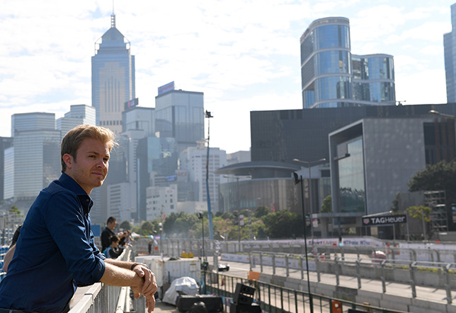 Нико Росберг на гонке Формулы E в Гонконге