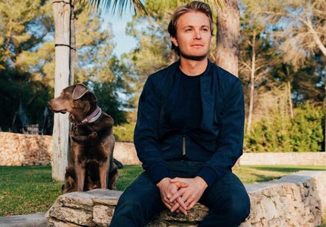 Нико Росберг и его собака Бейли