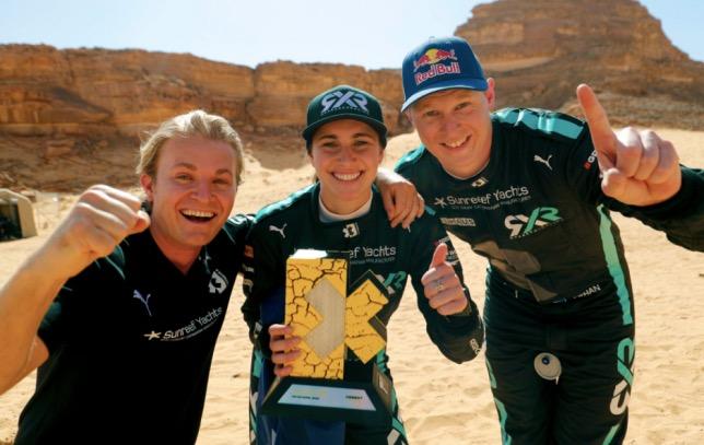 Нико Росберг, Молли Тейлор и Йохан Кристофферссон, фото Rosberg X Racing