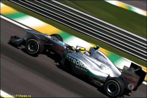 Нико Росберг на Гран При Бразилии