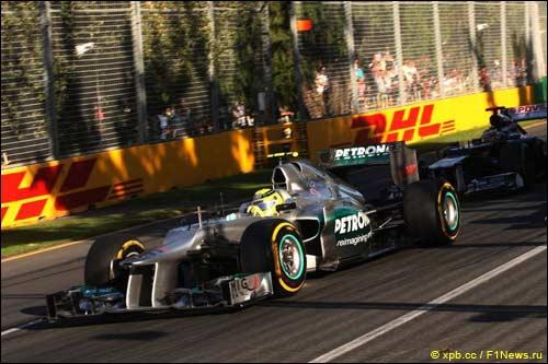 Нико Росберг на трассе Гран При Австралии