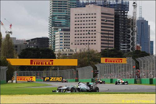 Нико Росбер на трассе Гран При Австралии, 2013 год