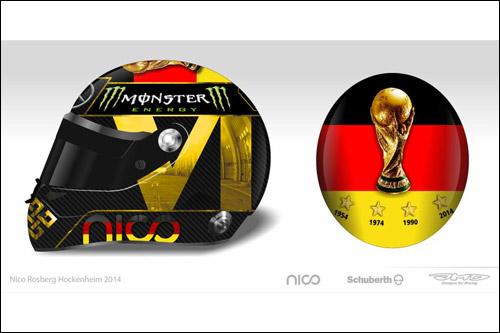 Схема дизайна нового шлема Нико Росберга
