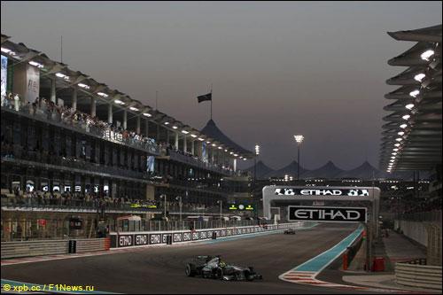 Нико Росберг на прошлогоднем Гран При Абу-Даби