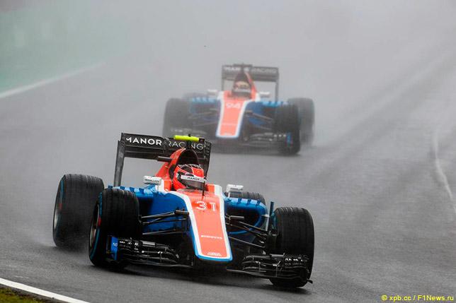 Пилоты Manor на Гран При Бразилии