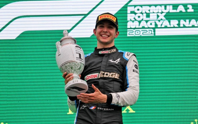 Эстебан Окон, победитель Гран При Венгрии, фото XPB
