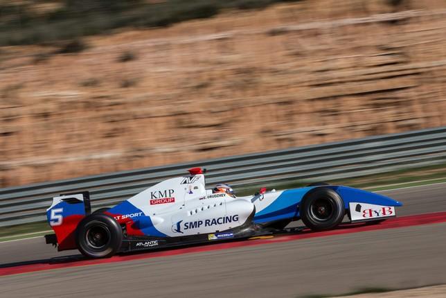 Егор Оруджев на тестах на трассе Motorland Aragon