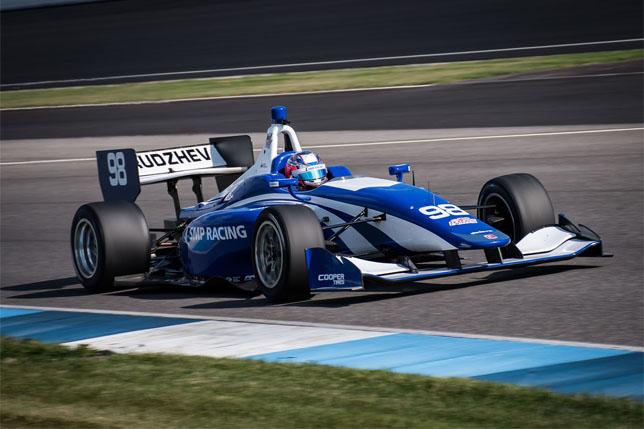 Егор Оруджев принял участие в тестах Indy Lights
