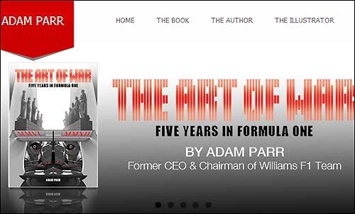 Скрин-шот официального сайта Адама Парра