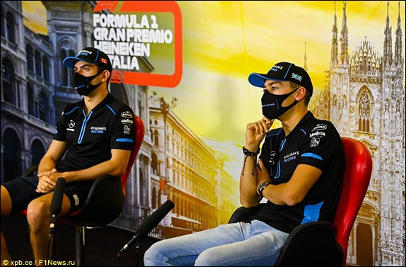 Пресс-конференция гонщиков Williams