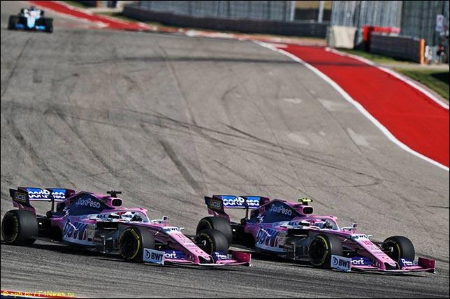 Серхио Перес и Лэнс Стролл. Гран При США 2019