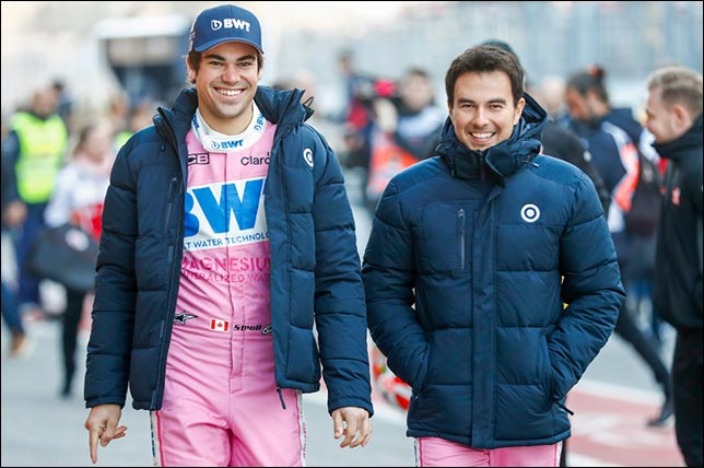 Лэнс Стролл и Серхио Перес. Фото: пресс-служба Racing Point