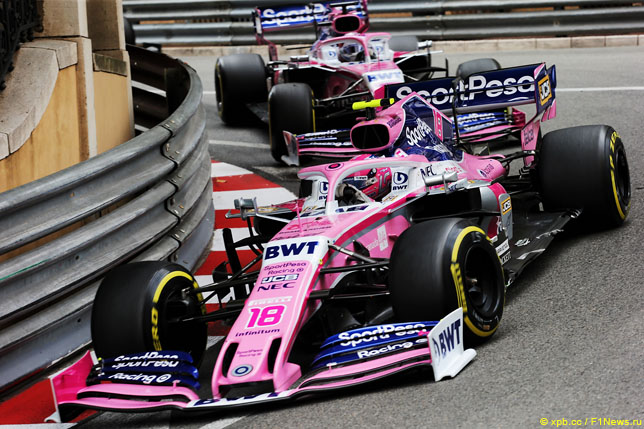Лэнс Стролл и Серхио Перес, Гран При Монако 2019