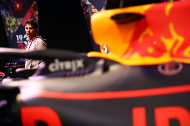 Серхио Перес на базе Red Bull Racing, фото пресс-службы Red Bull