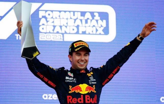 Серхио Перес, победитель гонки в Баку, фото пресс-службы Red Bull Racing
