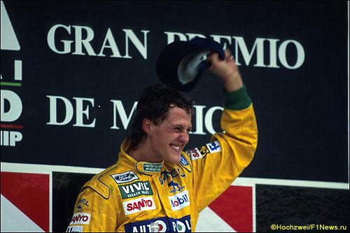 В Мексике в 1992-м Михаэль Шумахер впервые в карьере поднялся на подиум в Формуле 1