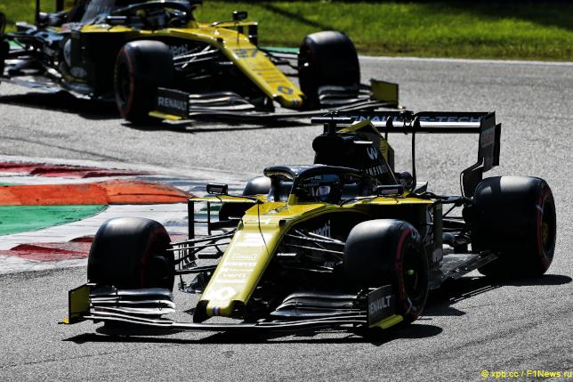 Гран При Италии. Гонщики Renault