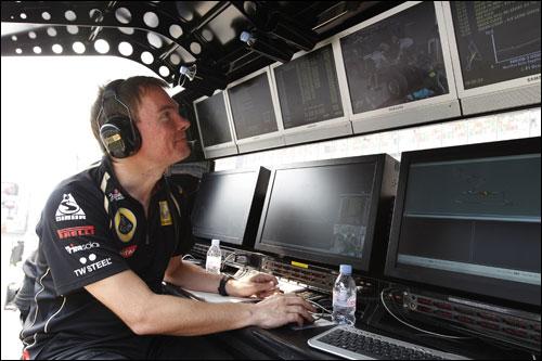Гоночный директор Lotus Renault GP Алан Пермейн на Гран При Индии