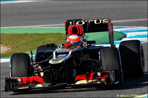Lotus E21 на тестах в Хересе