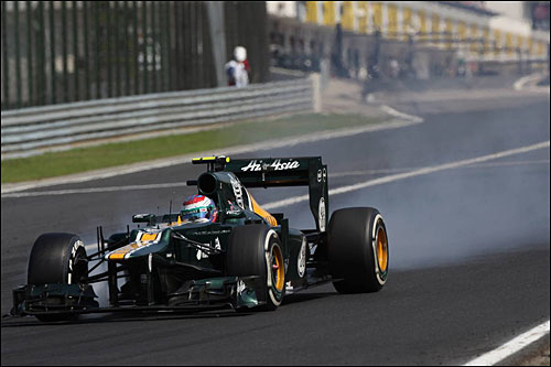 Виталий Петров на трассе Гран При Венгрии
