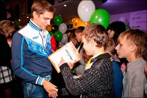 Виталий Петров на благотворительном мероприятии