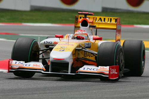 Гран При Испании. Квалификация. Фернандо Алонсо за рулем Renault R29