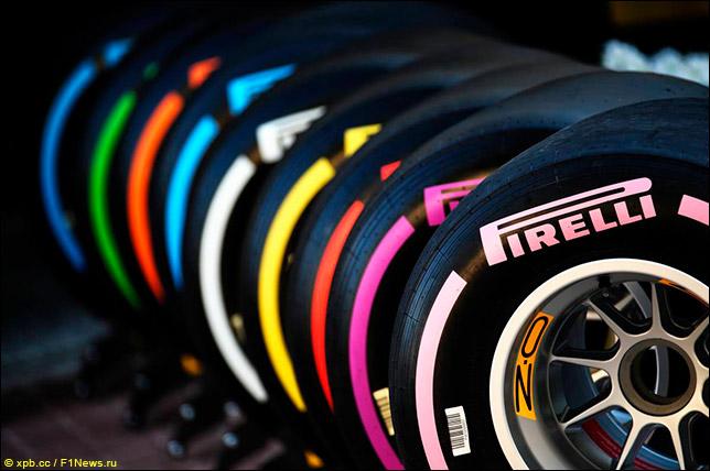 Семь составов сликов Pirelli