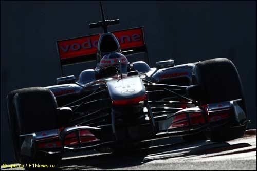 Гэри Паффет на ноябрьских тестах Pirelli в Абу-Даби