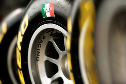 Юбилейный логотип на резине Pirelli