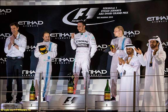 Подиум Гран При Абу-Даби 2014 года