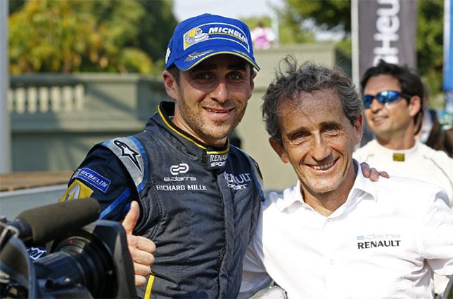 Ален Прост и его сын Николя, гонщик Формулы E, фото e.dams