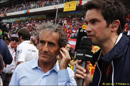 Ален Прост на стартовой решетке Гран При Испании