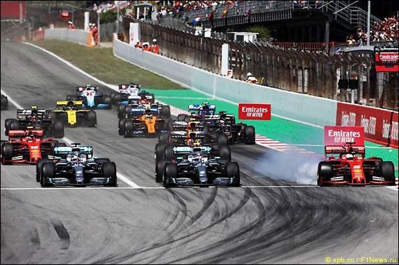 Старт Гран При Испании 2019 года