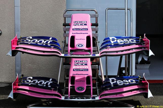 Переднее антикрыло Racing Point