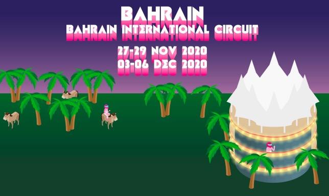 Плакат, подготовленный командой Racing Point к предстоящим гонкам в Бахрейне