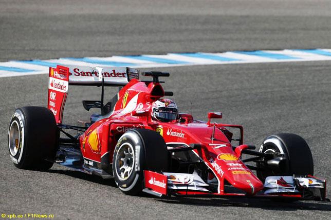 Кими Райкконен за рулем новой машины Ferrari