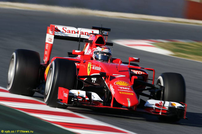 Кими Райкконен за рулем Ferrari