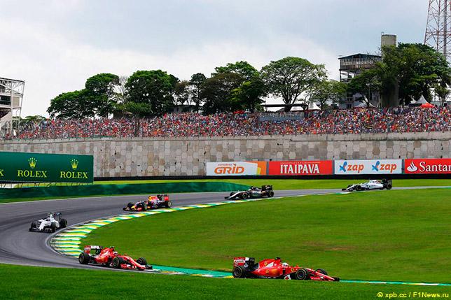 Пилоты Ferrari на Гран При Бразилии